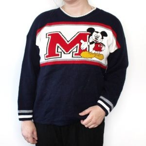 Vintage Disney Mickey Mouse Blue Knit Sweater